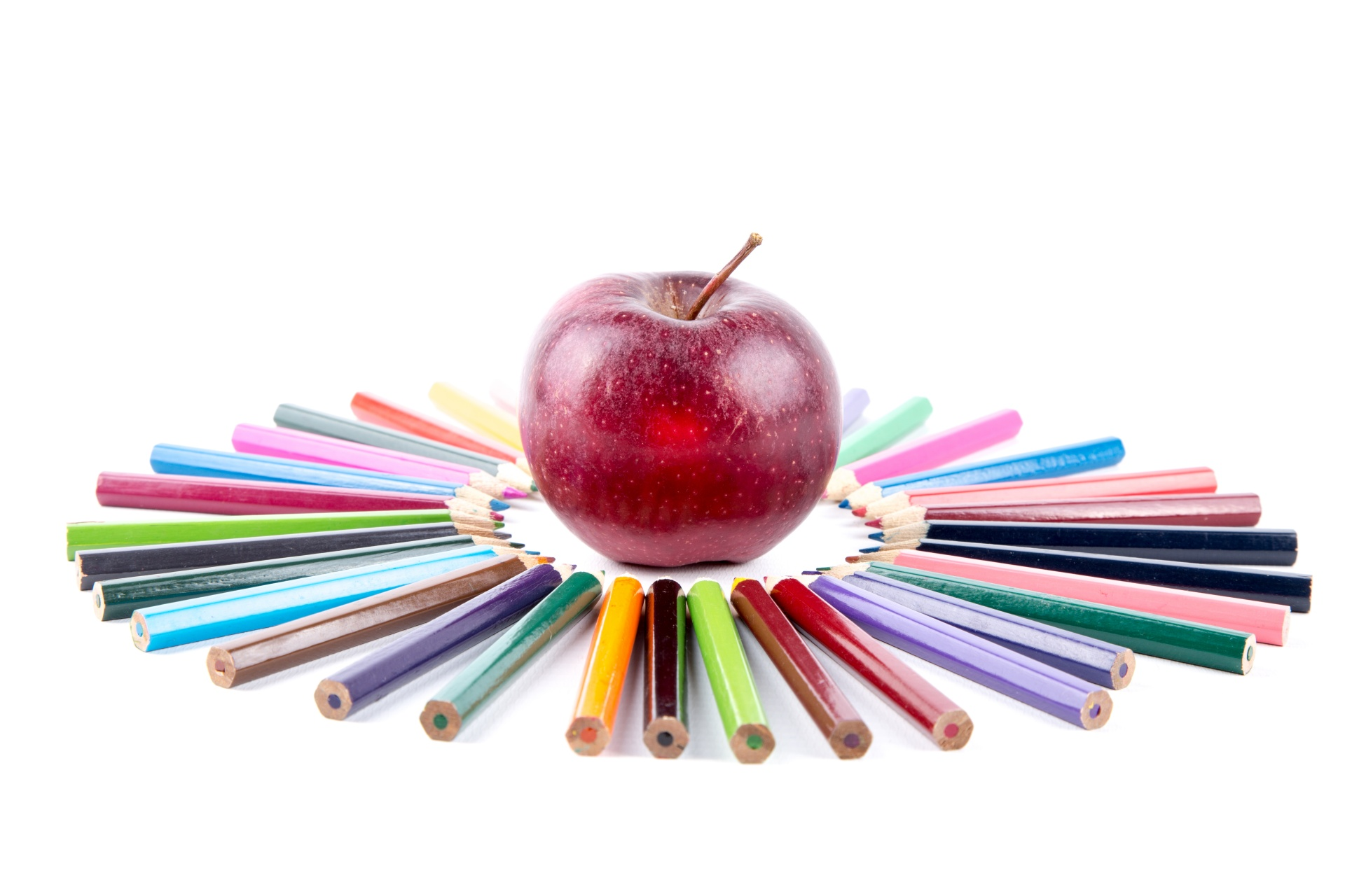 colorful pencils with apple 1474015011U4g